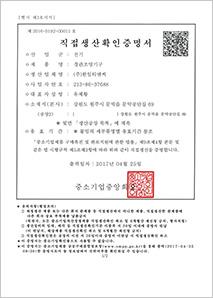직접생산확인증명서경관조명